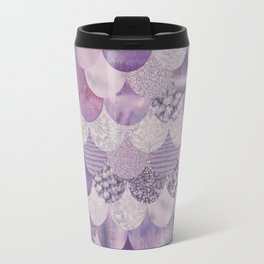 Pale Pink Pastel Glamour Fish Skin Scale Pattern Travel Mug