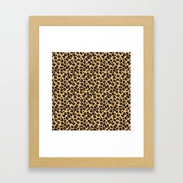 Classic Black and Yellow / Brown Leopard Spots Animal Print Pattern Framed Art Print