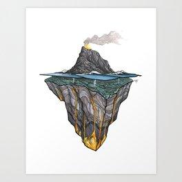 Salt + Fire Art Print