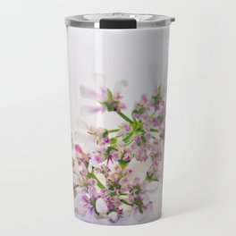 Cilantro flower - Botanical Photography Travel Mug