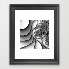 Layers of Snow Framed Art Print