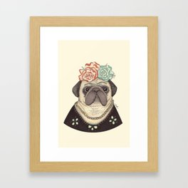 Frida Pug Kahlo Framed Art Print
