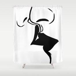 Kiss Love Eternity - Black Paint Shower Curtain
