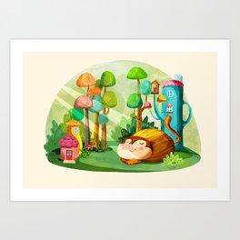 Naptime Art Print