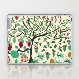 Fairy seamless pattern garden with plants, tree and flowers Laptop & iPad Skin