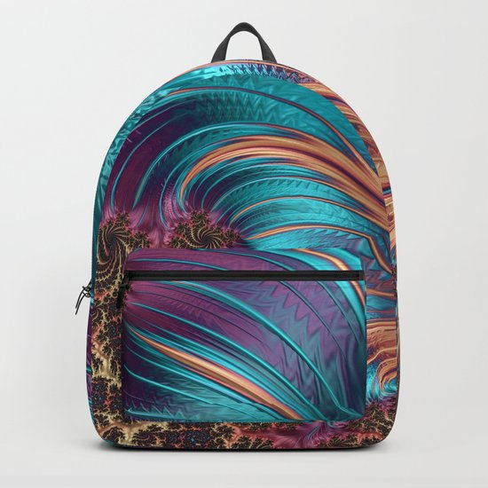 BLUE FEATHERS FRACTAL Backpack