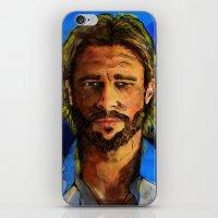 brad pitt iPhone & iPod Skins featuring Brad Pitt by Green Diablo