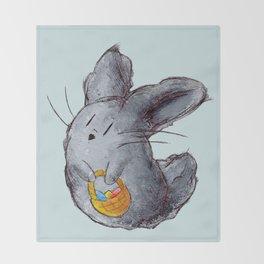 Dusty Easter Bunny Throw Blanket