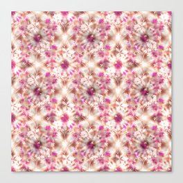 kaleidoscopic background.White and red colors Canvas Print