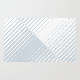 gradient stripes triangles in ice gray and white Rug