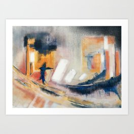 Fleeing Florence Art Print