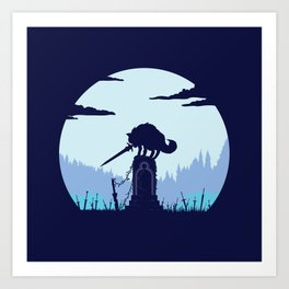 Grey Wolf Sif (Dark Souls) Art Print