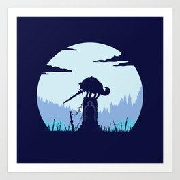 Grey Wolf Sif (Dark Souls) Art Print
