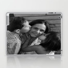 Tender Moments Between A Mother And Her Children Laptop & iPad Skin