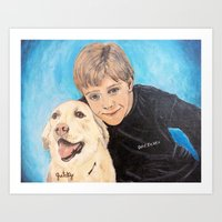 best friends Art Prints featuring Best Friends by gretzky