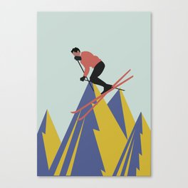 vintage ski poster Canvas Print
