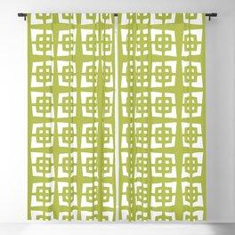 Mid Century Modern Pattern 271 Chartreuse Blackout Curtain