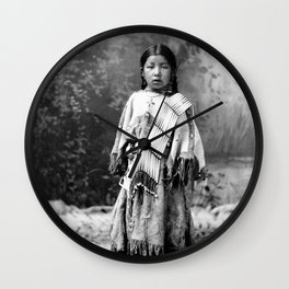 Dakota Sioux Little Girl Wall Clock