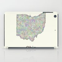 ohio iPad Cases featuring Ohio map by David Zydd