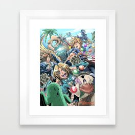 Final Fantasy Fanfare Framed Art Print