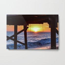Serenity Pier Metal Print