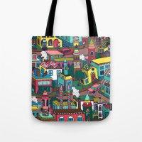 good morning Tote Bags featuring Good Morning! by Valeriya Volkova