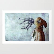The Octopus Man Art Print