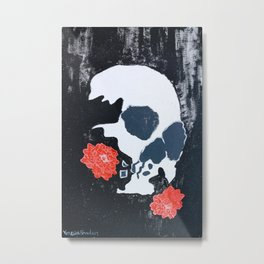 Chinese New Year Skull Metal Print