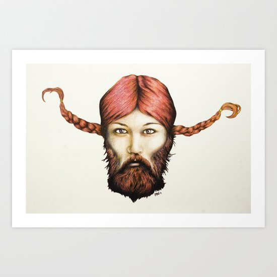 Wendy, The Bearded Lady Art Print