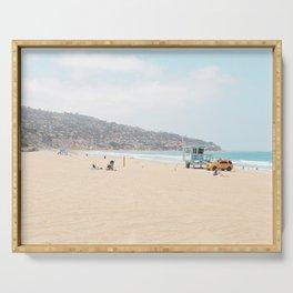 Redondo Beach // California Ocean Vibes Lifeguard Hut Surfing Sandy Beaches Summer Tanning Serving Tray