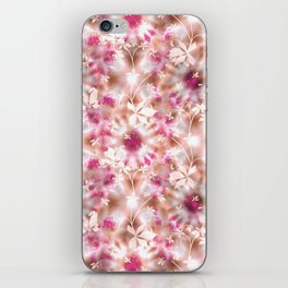 kaleidoscopic background.White and red colors iPhone Skin