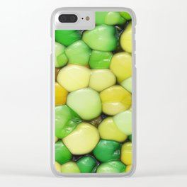 Lemon Lime Abstract Clear iPhone Case