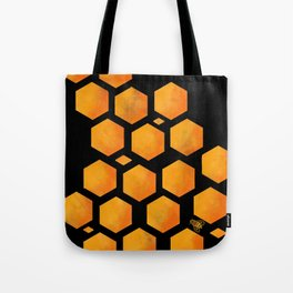 Bee in a Honeycomb Tote Bag