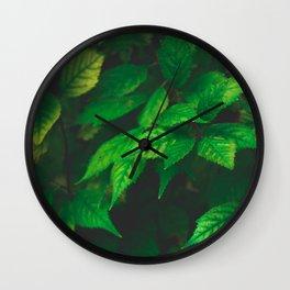 Mystical Leaves Wall Clock