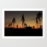 Two from the woods Art Print