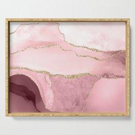 Blush Marble Art Landscape Serving Tray