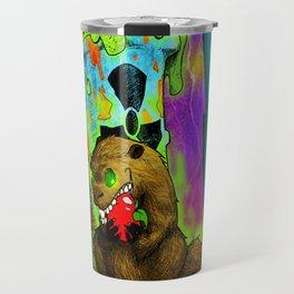 Radioactive Groundhog Eating an Apple Travel Mug