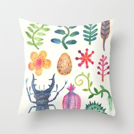 Along the Forest Road Throw Pillow