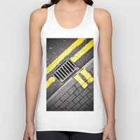 grid Tank Tops featuring Grid by PRE Media