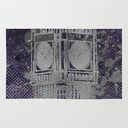 Graphic Art LONDON Big Ben | ultraviolet & silver Rug
