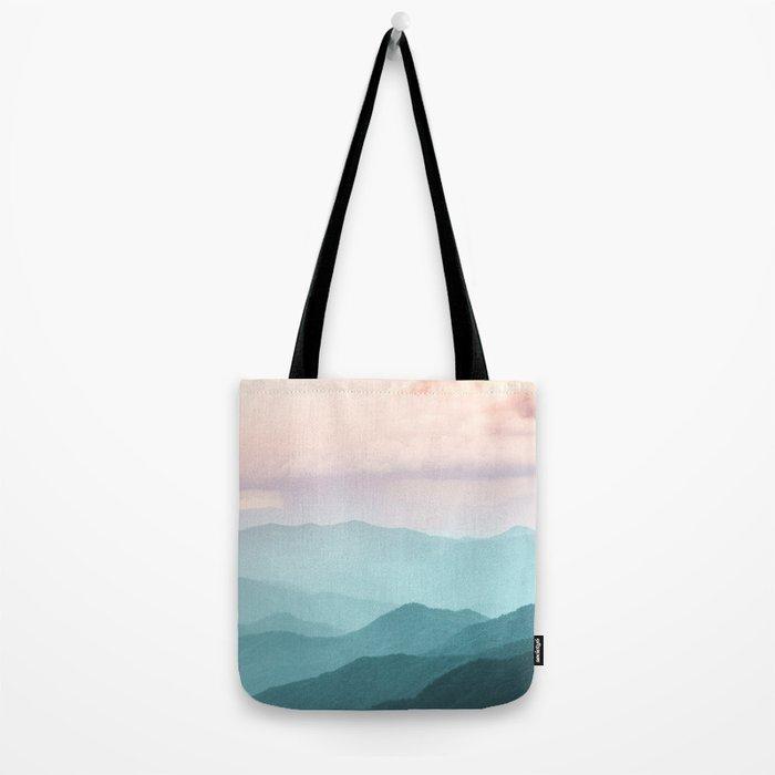 Smoky Mountain National Park Sunset Layers II - Nature Photography Tote Bag