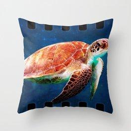 Turtle Ship Throw Pillow
