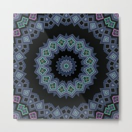 Embroidered beads pattern 2 Metal Print