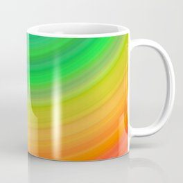 Rainbow Smile Colored Circles Summer Pattern Coffee Mug