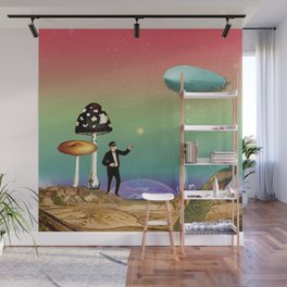the magician in the land of mushrooms Wall Mural