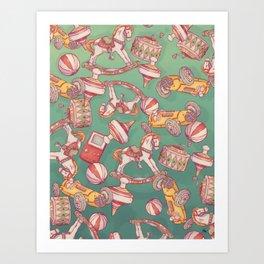 Christmas Toys Art Print