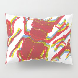Stag Beetle Tricolore lino cut Pillow Sham