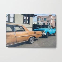 Vintage Cars and Vintage Colors in SF Metal Print