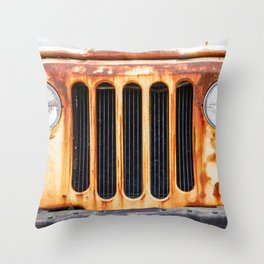 The Old Rusty DJ5 Throw Pillow