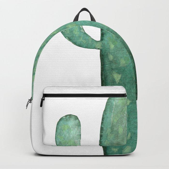 Arizona Mint Cactus on White Backpack